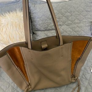 Chloe Milo Medium Grey Tote